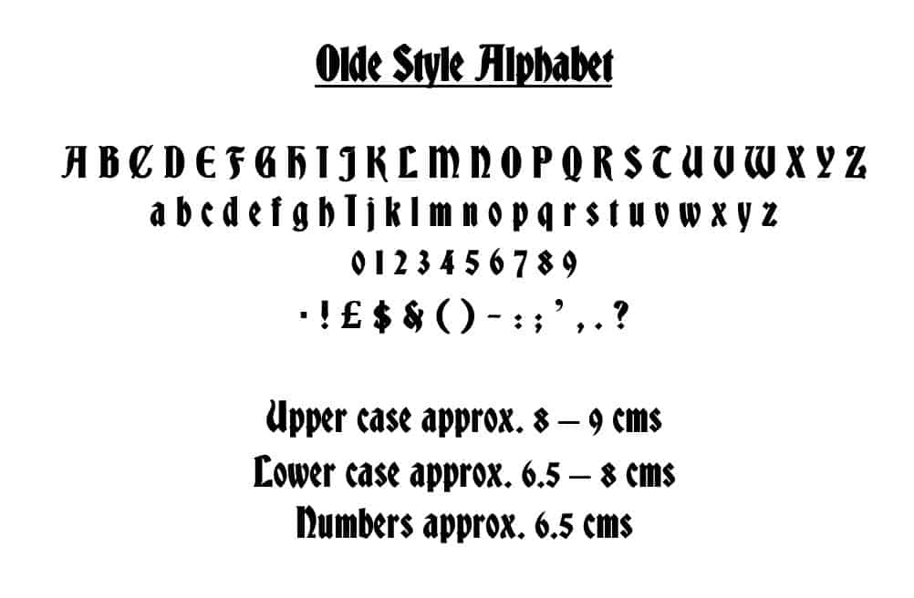 Olde Style Alphabet Book Folding Pattern Diy Gift To Make Your Own