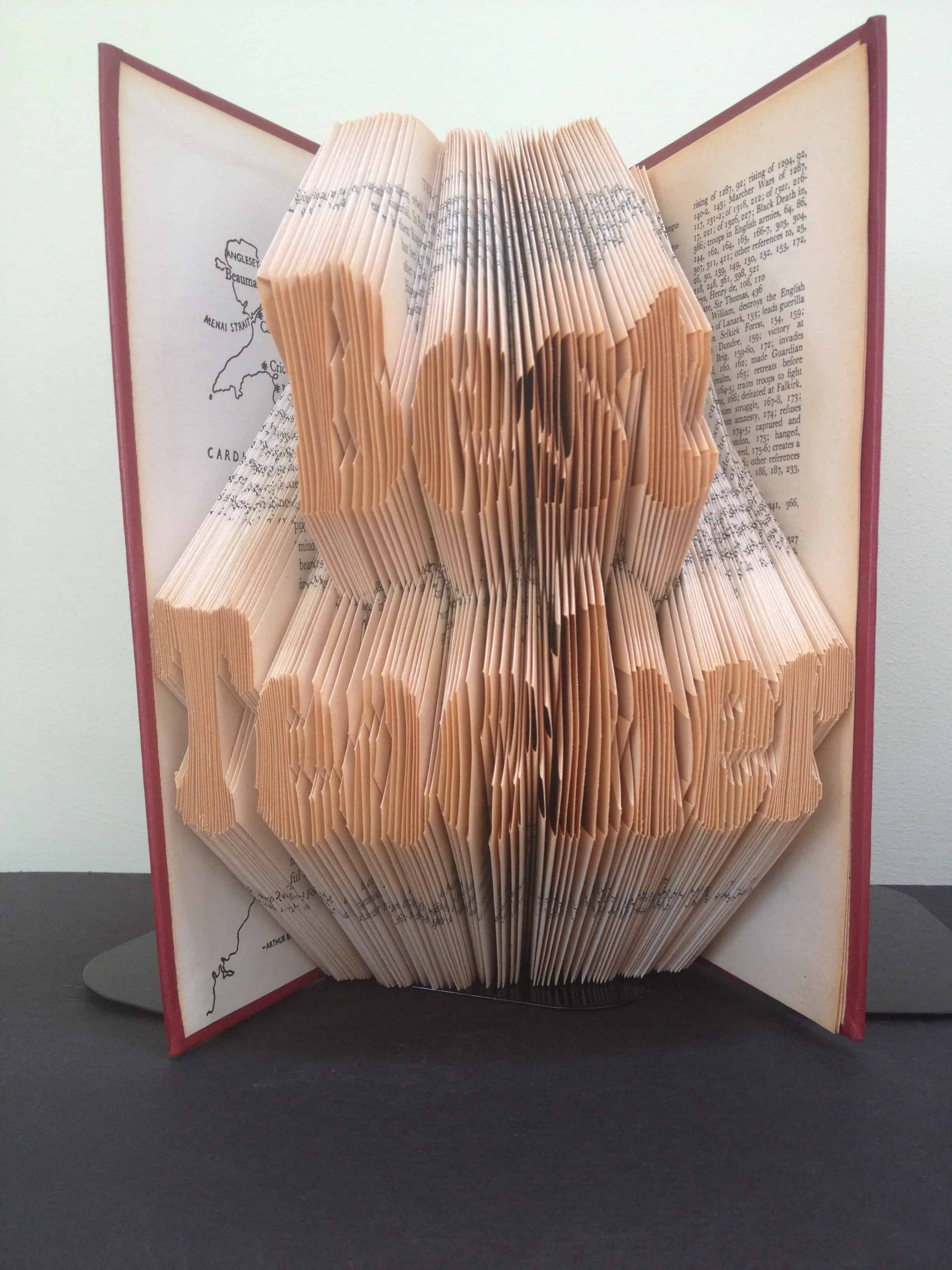 Best teacher book folding pattern diy gift to make your own folded home negle Choice Image