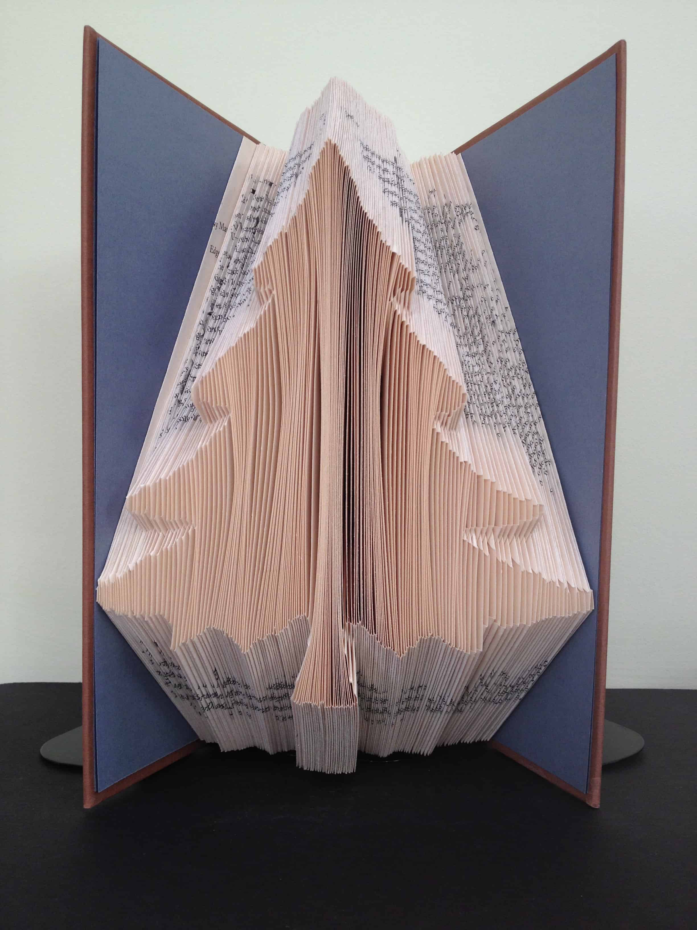Christmas Tree Folded Book Art Finished Book Ready Made For