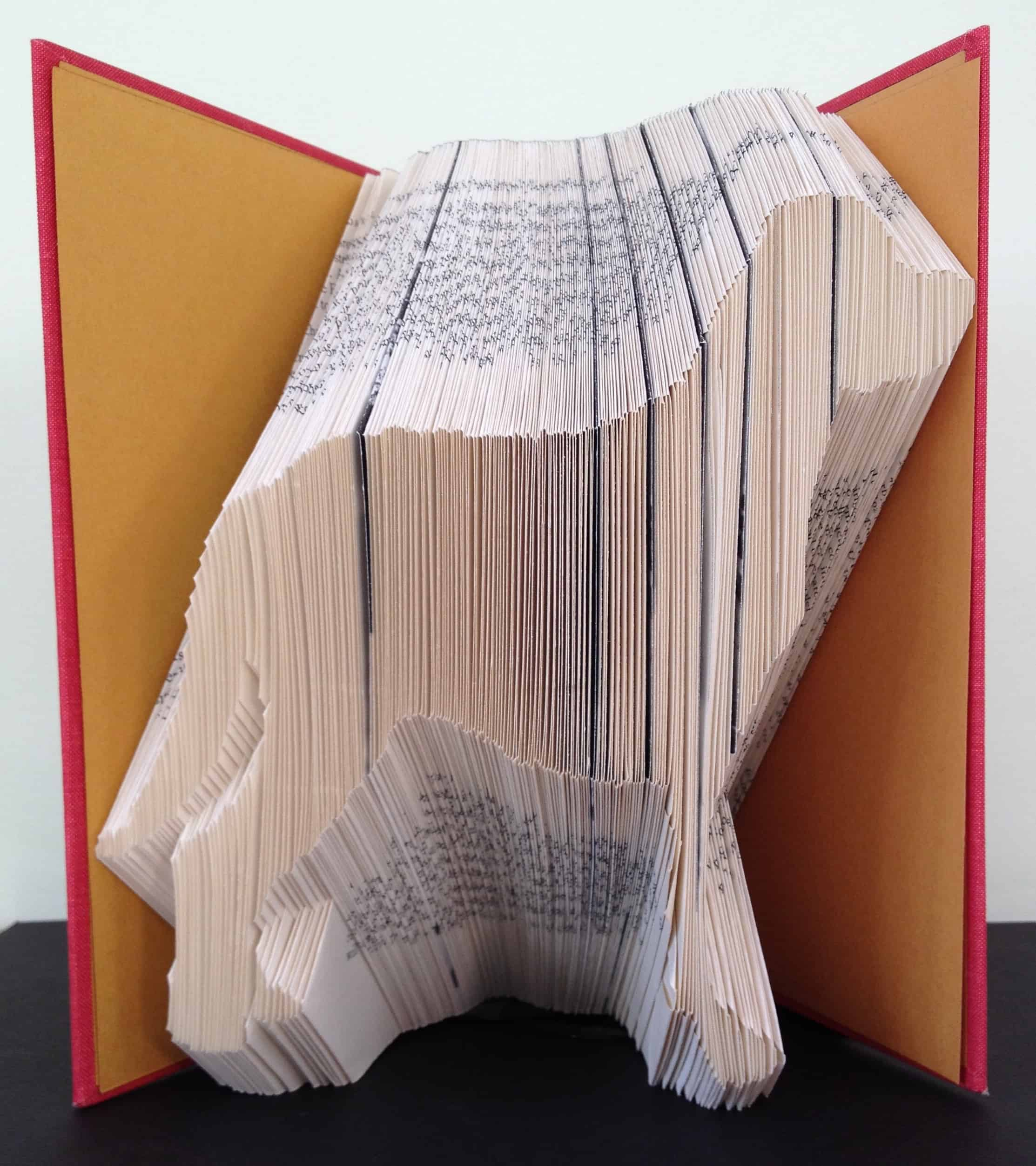 mountain dog book folding pattern  diy gift to make your