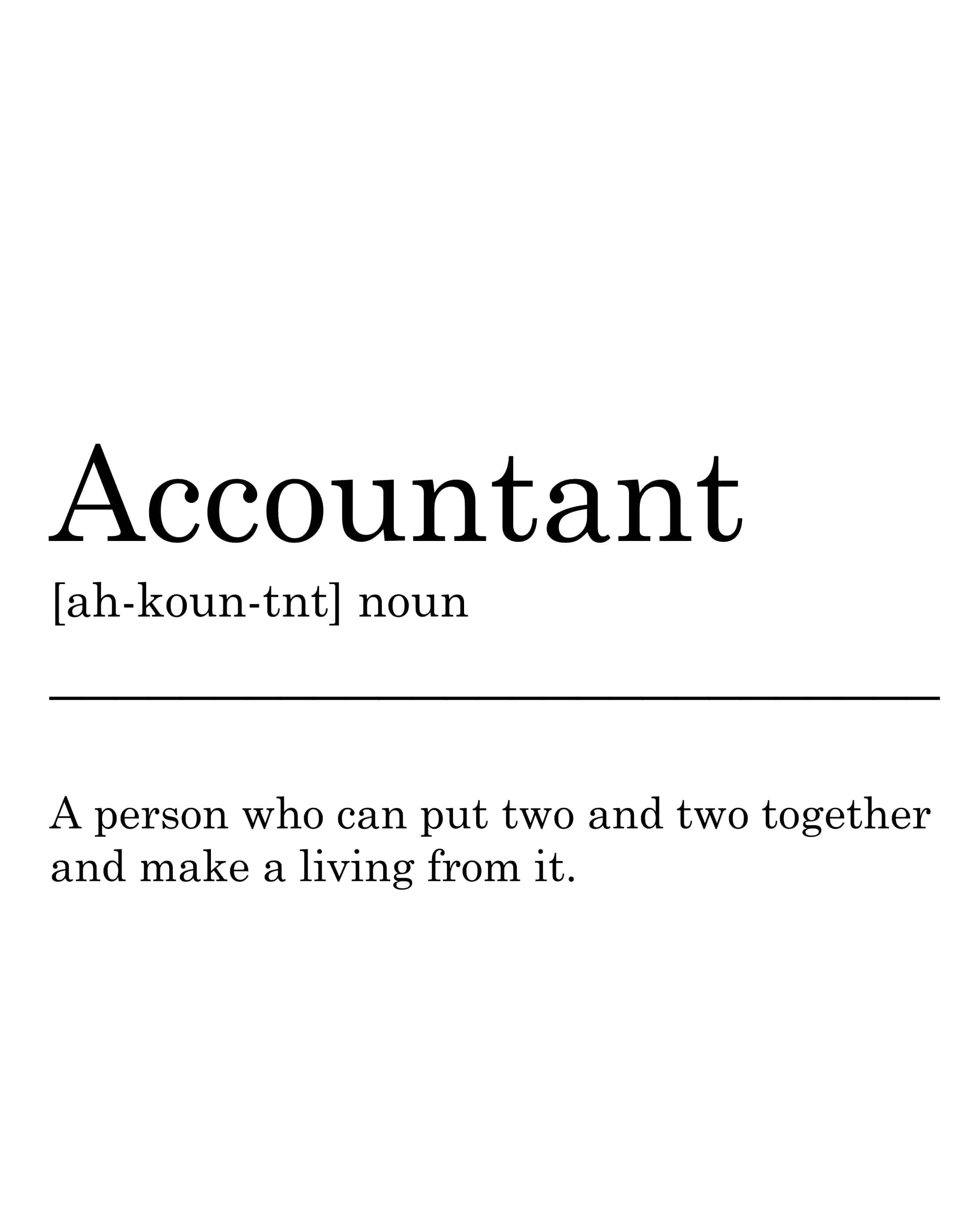 accountant definition printable wall art for you to print