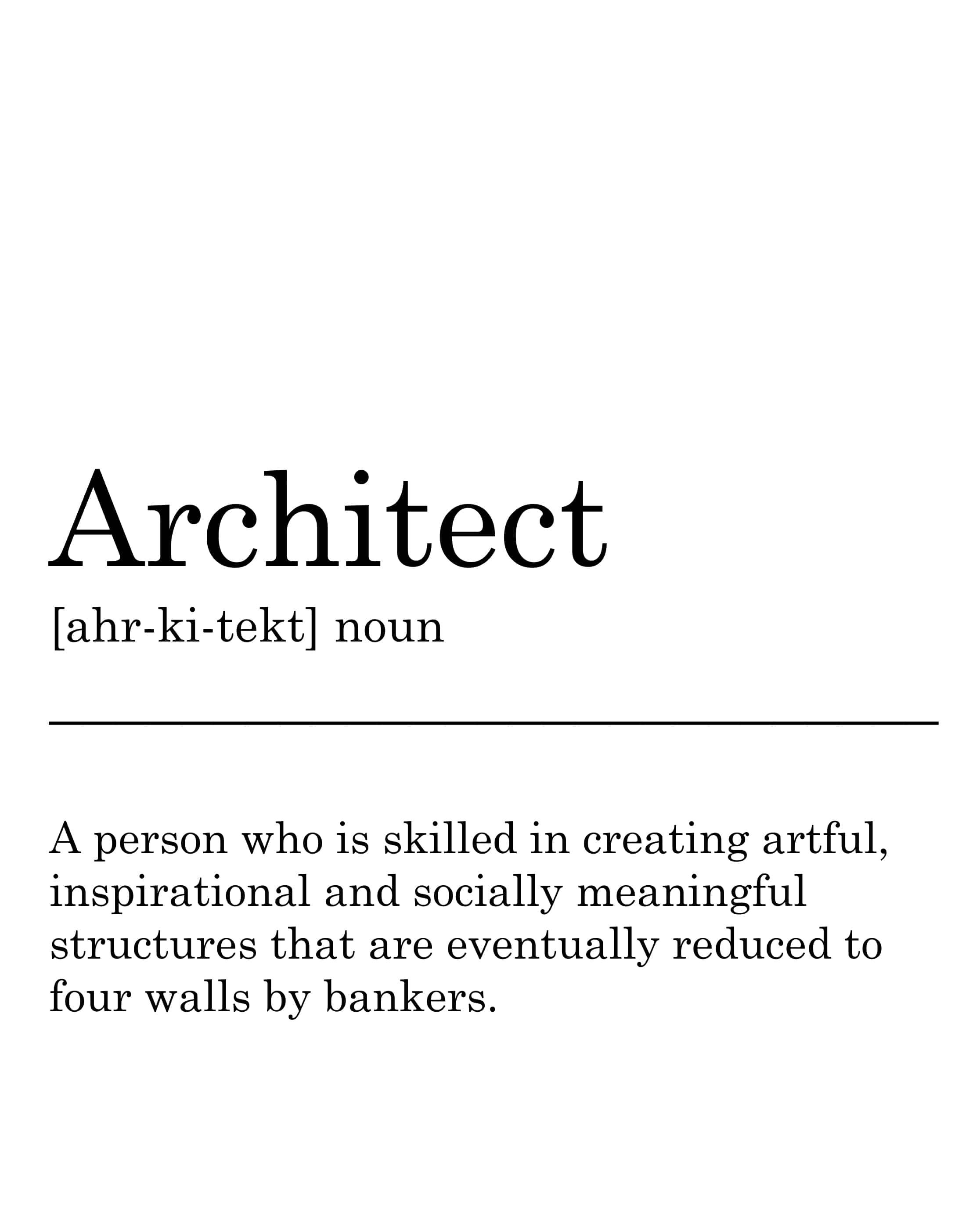 architect definition