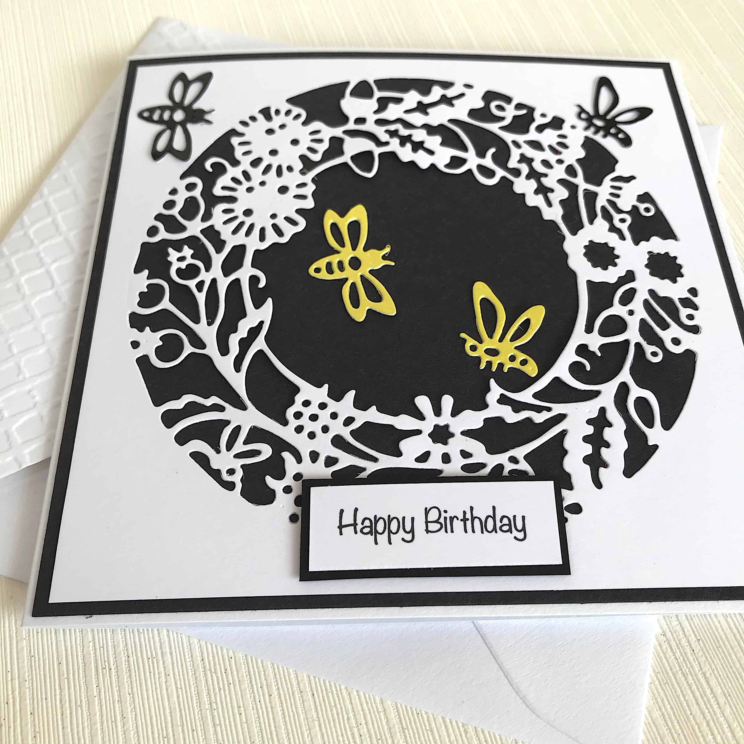 Busy Bees Handmade Birthday Card Free Personalisation