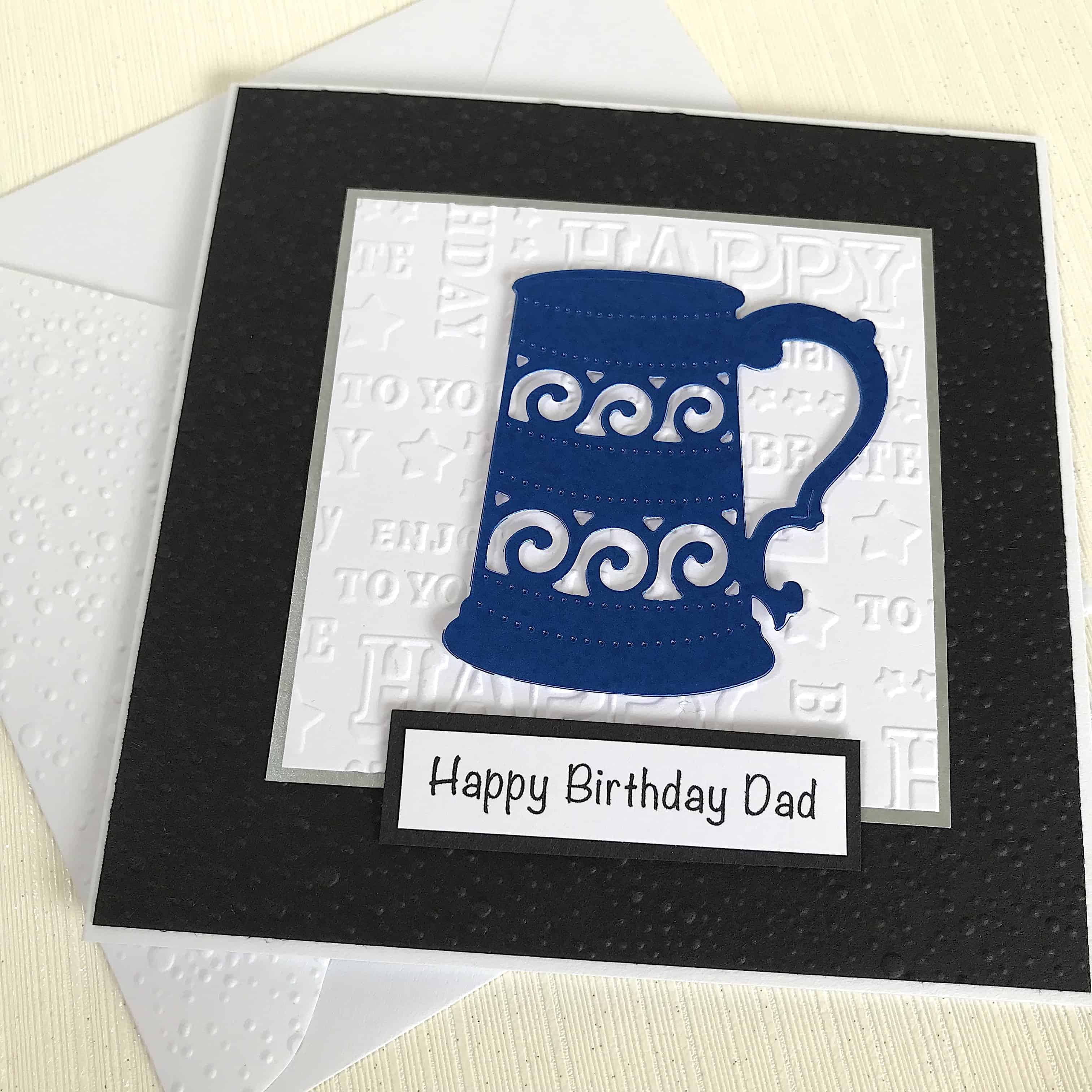 Dad Birthday Card With Beer Tankard Also For Grandad Son Or Brother Free Personalisation